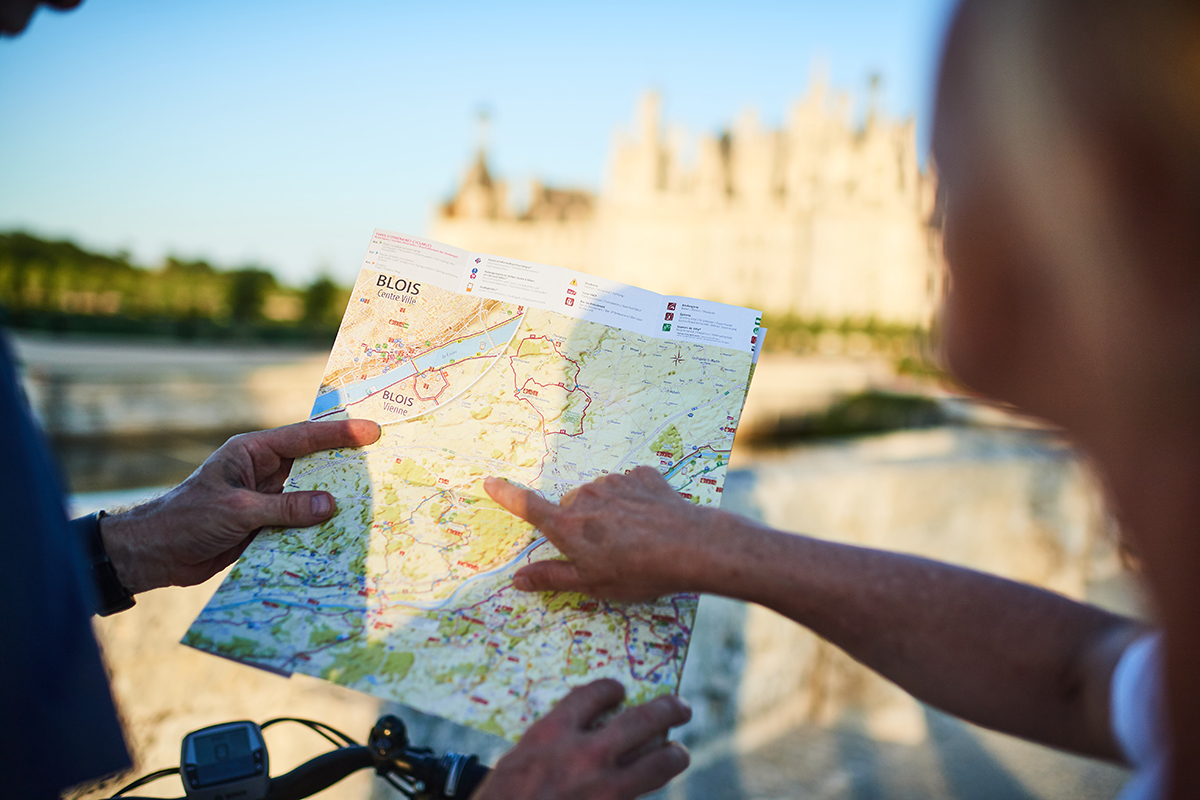 La carte des Châteaux à Vélo
