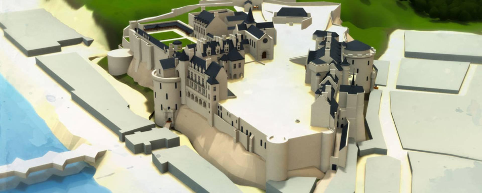 Das Schloss zur Zeit von Louis-Philippe