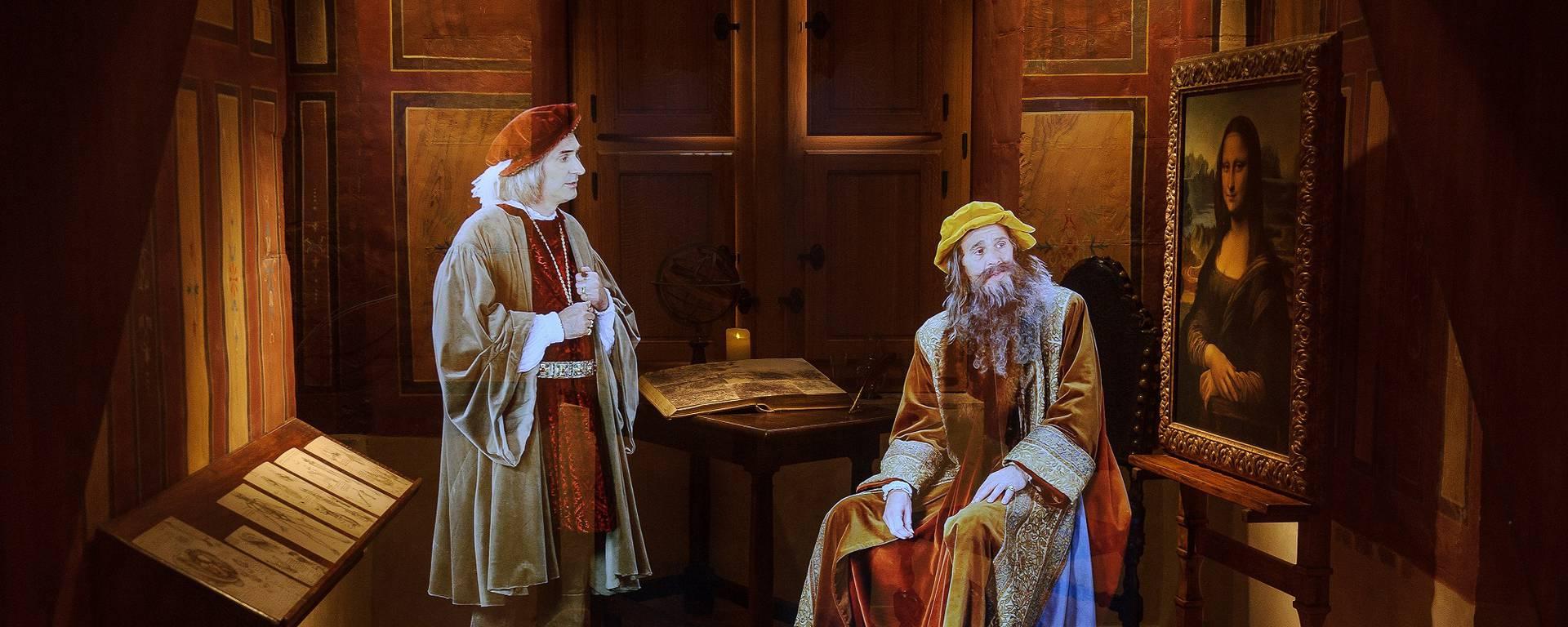 Hologramm Leonardo da Vincis im Schloss Clos Lucé