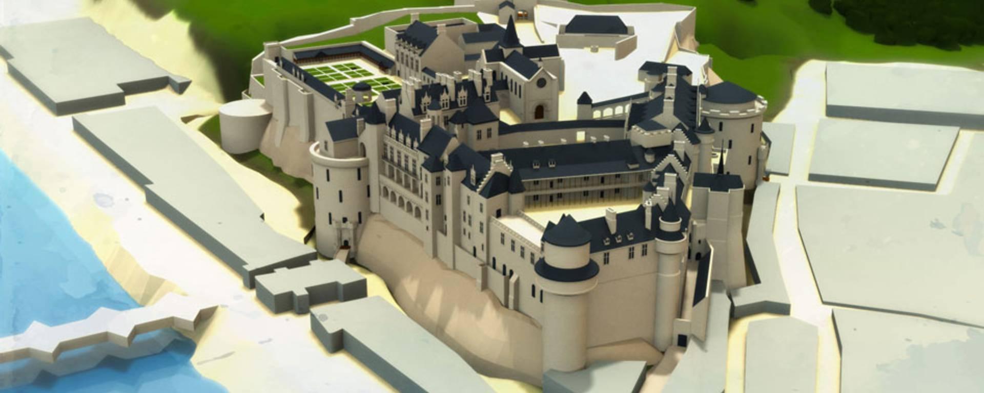 Das Schloss zur Zeit von Catarina de' Médici