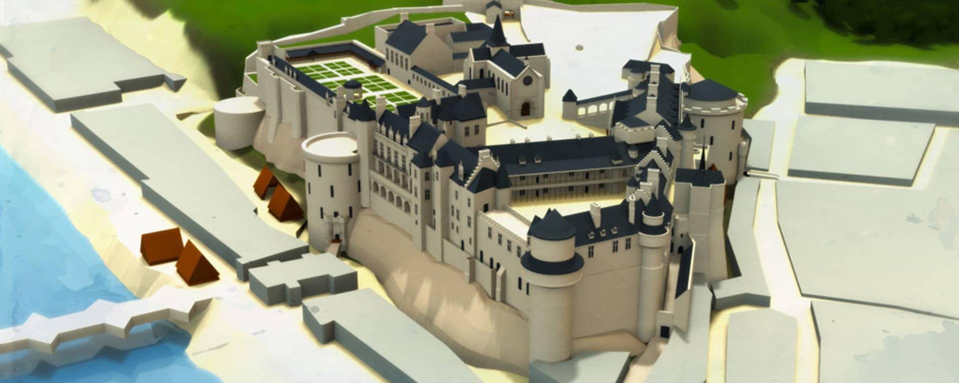 Das Schloss zur Zeit von Charles XIII.