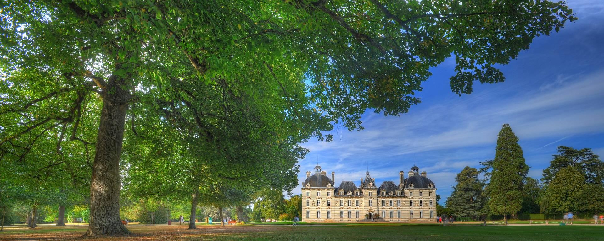 Schloss Cheverny vom Park aus