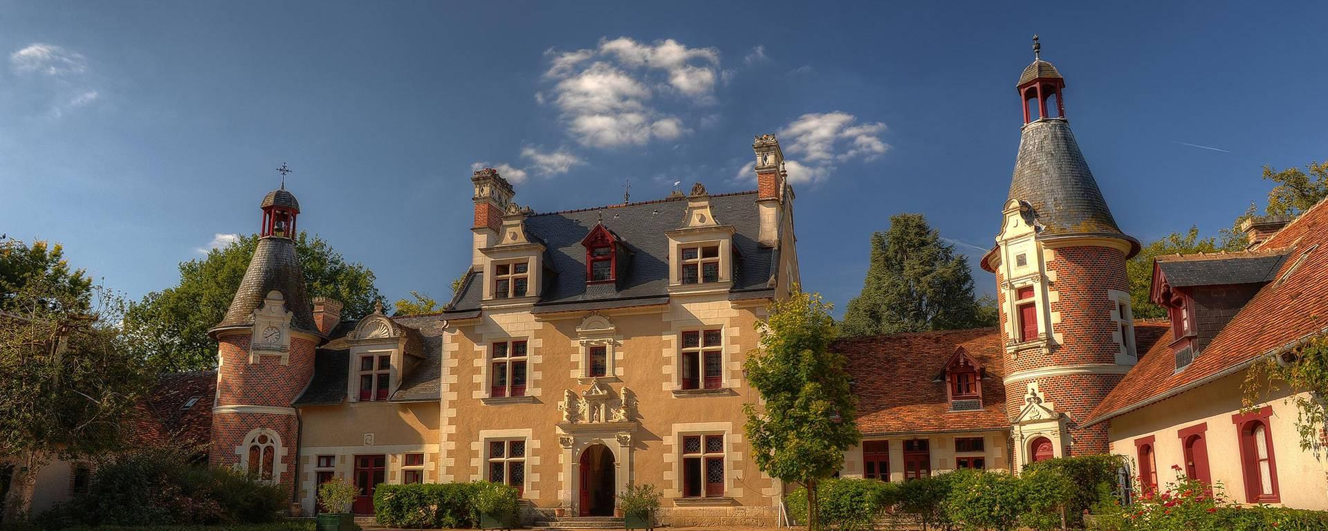 Der Hof von Schloss Troussay