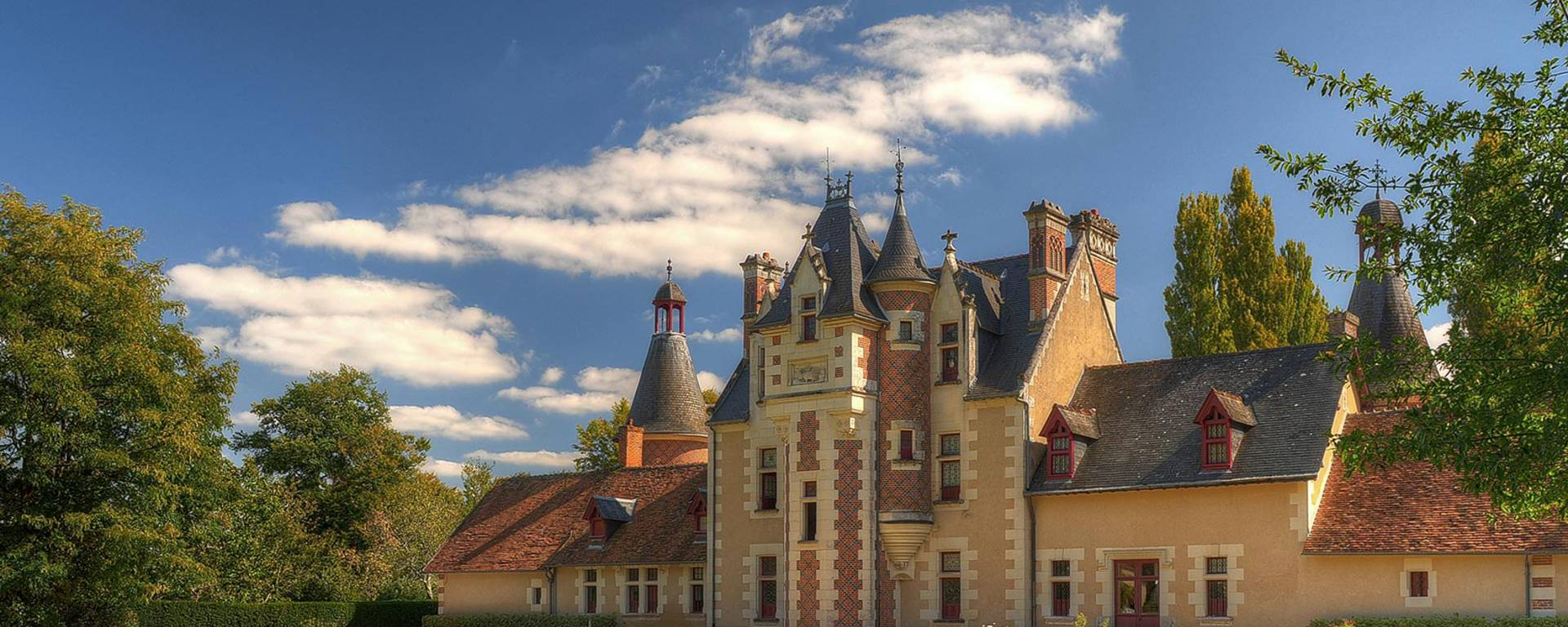 Die Fassade von Schloss Troussay