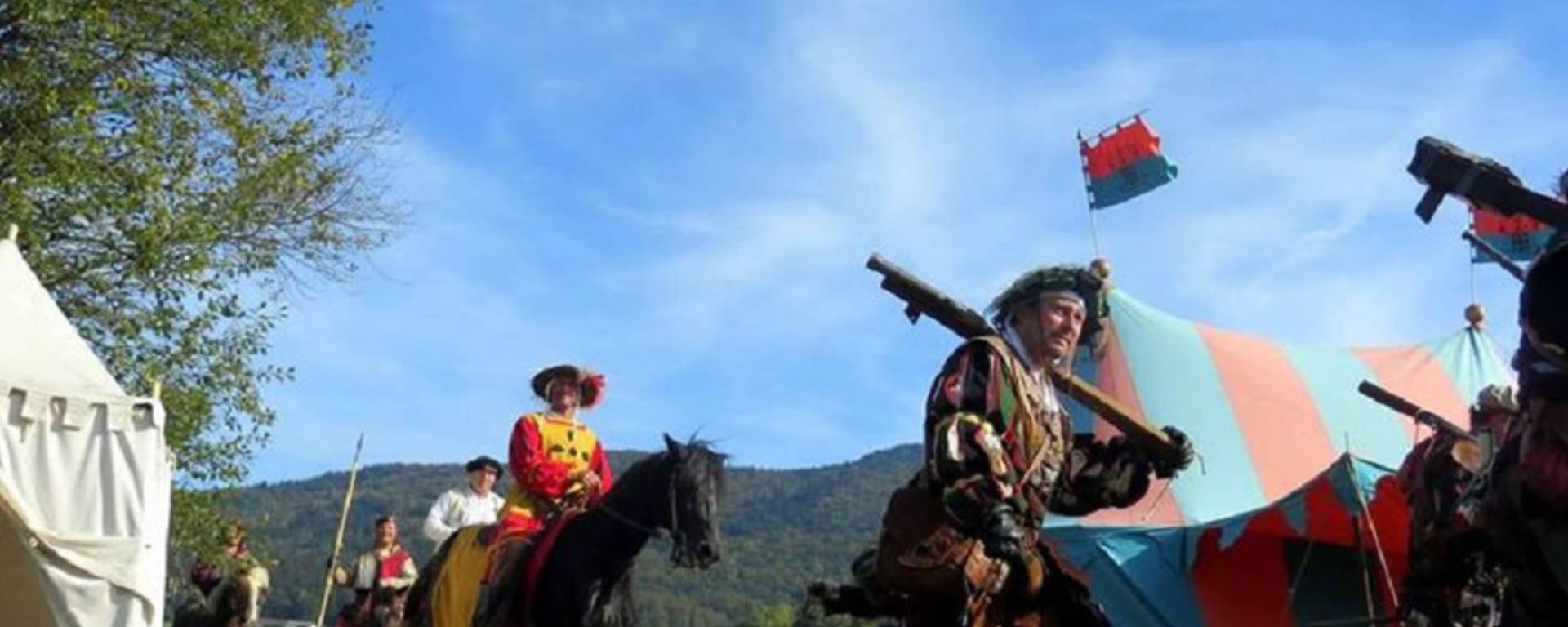 Rekonstitution  im Clos Lucé der Schlacht bei Marignano © DR