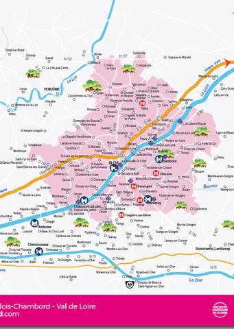 Verwaltungskarte von Blois Chambord - Loiretal