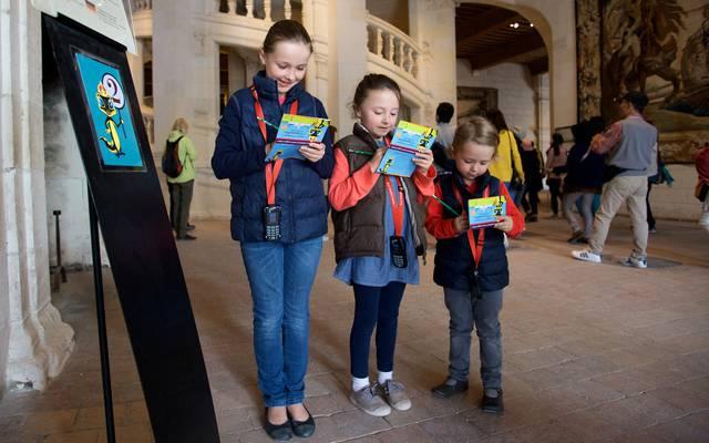 Kinder entdecken Chambord mit dem