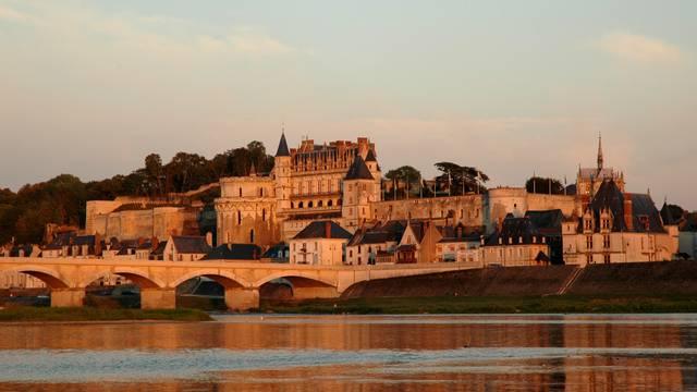 Ein herrlicher Blick auf das königliche Schloss von Amboise. © JF Le Scour