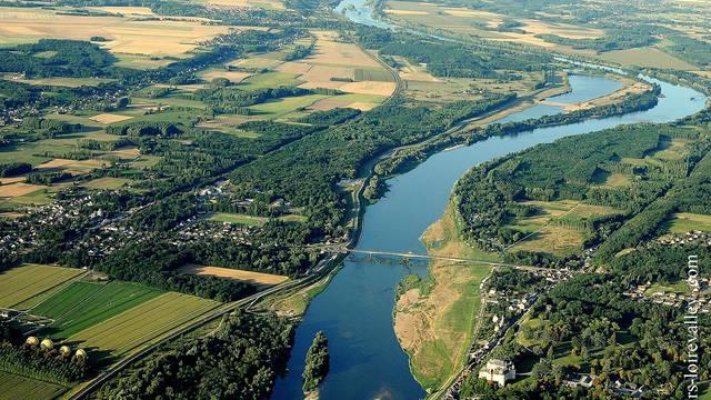 Luftaufnahme von Chaumont-sur-Loire © Loisirs Loire Valley