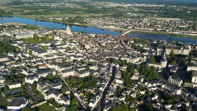 Die Stadt Blois vom Himmel aus gesehen © BloisChambord