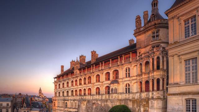 Blois Schloss : die Fassade der Logen © L. de Serres