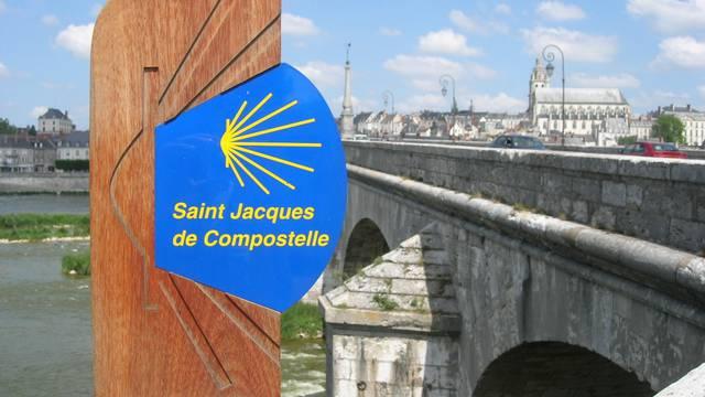 Der Wallfahrtsweg nach Santiago de Compostella in Blois © OTBC