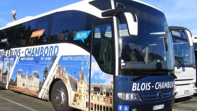 Die Loire-Schlösser fahren mit dem Pendelbus.