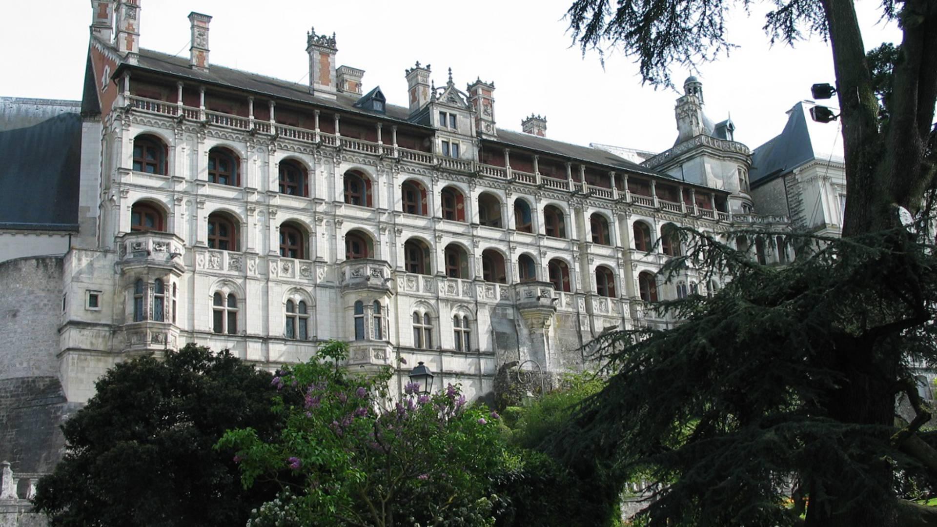 """Der Flügel """"François Ier"""" des königlichen Schlosses in Blois"""
