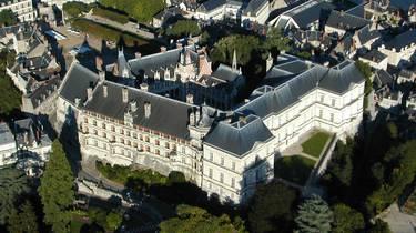 Die Burg von Blois vom Himmel aus gesehen. © Aerocom
