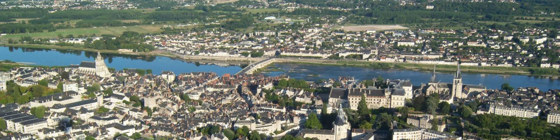 Flug über Blois im Fesselballon