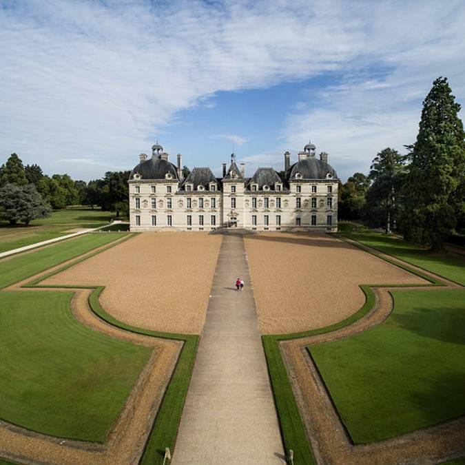 Luftaufnahme von Schloss Cheverny