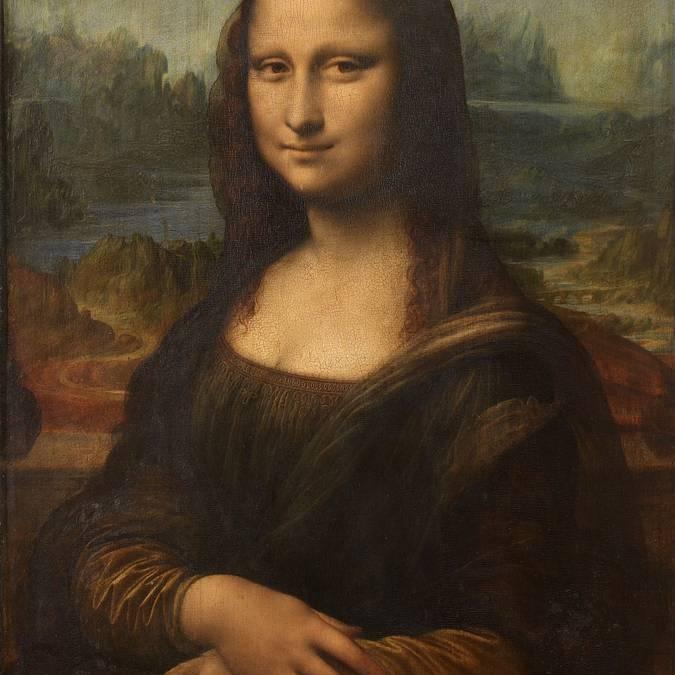 Die berühmte Mona Lisa von Leonardo da Vinci