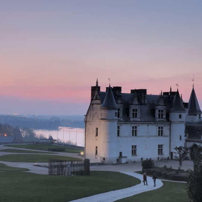 Schloss Amboise in der Dämmerung
