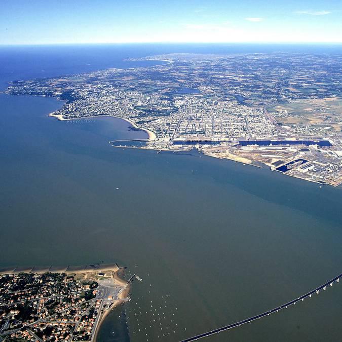 Die Loire-Mündung bei Saint-Nazaire