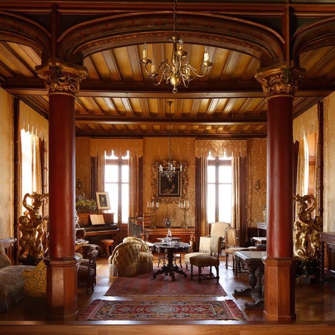 Der große Salon im Schloss von Chaumont-sur-Loire