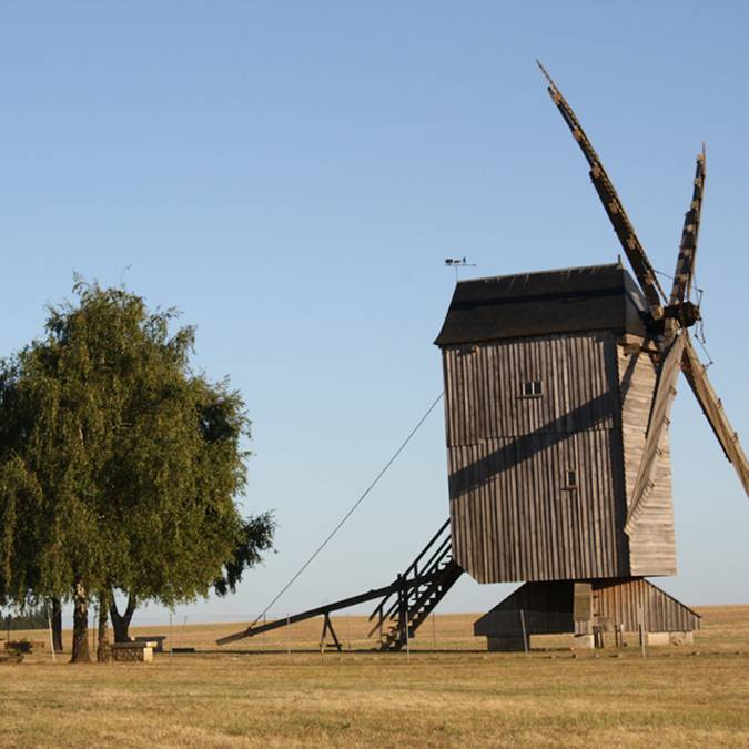 Windmühle in Maves in der Beauce (Loire-Tal)