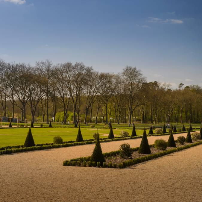 Der Garten von Chambord von den Allen aus gesehen