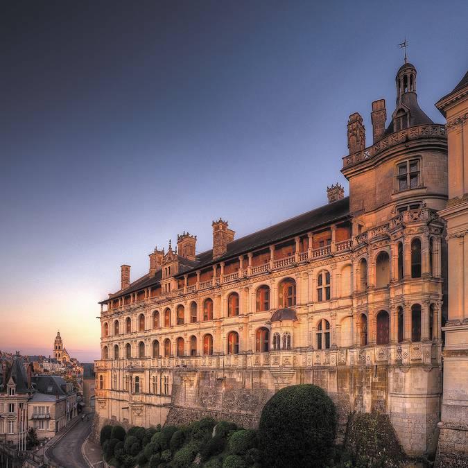 """Die """"Façade des Loges"""" des königlichen Schlosses in Blois"""