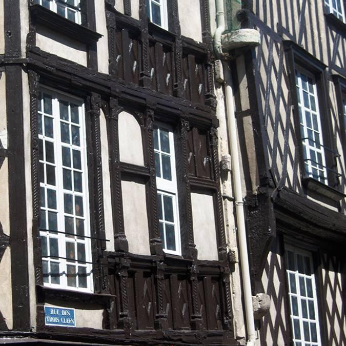 Häuser in Pans de bois, in Blois