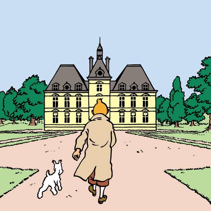 """Hergé wurde für sein """"Schloss Moulinsart"""" von Cheverny inspiriert © Hergé"""