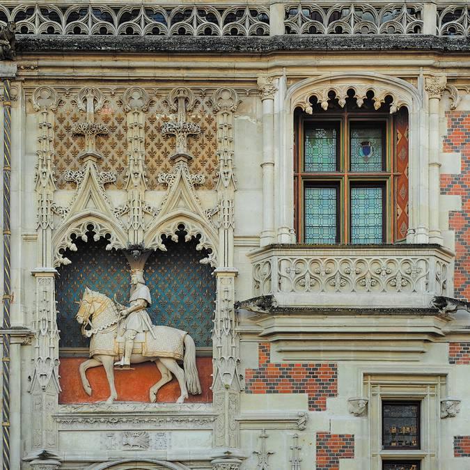 Reiterstatue von Louis XII. am Schloss von Blois