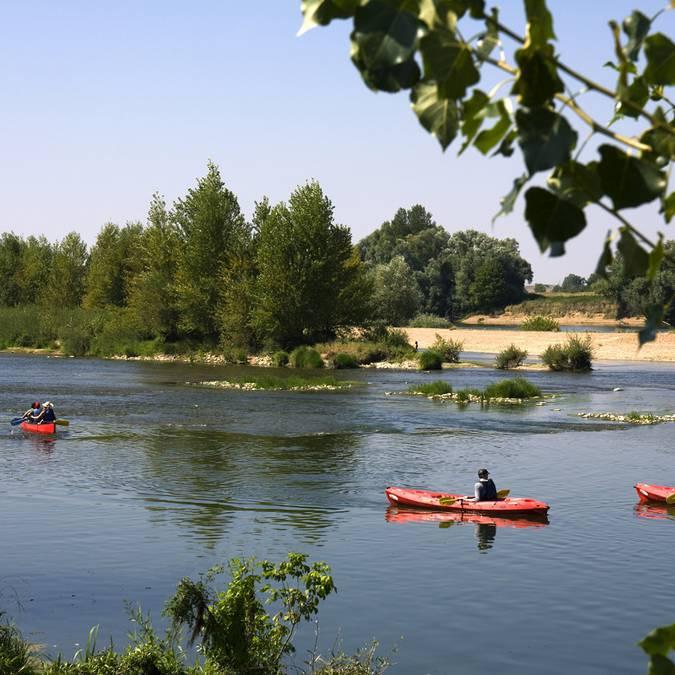 Kanu auf der Loire bei Saint-Dyé