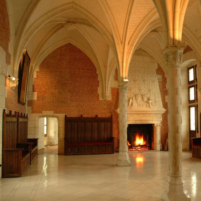 Der Ratssaal im Schloss von Amboise