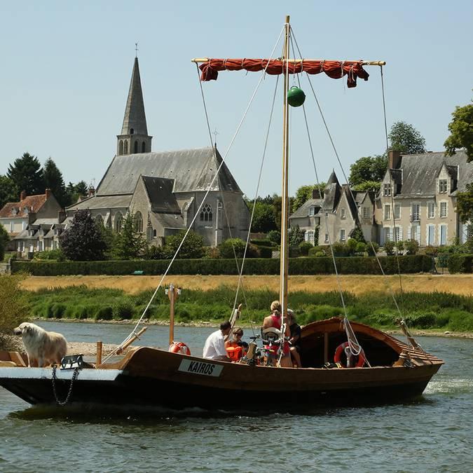 Traditionelles Boot auf der Loire