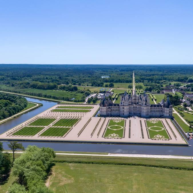 Schloss Chambord und die Gärten © Drone Contrast