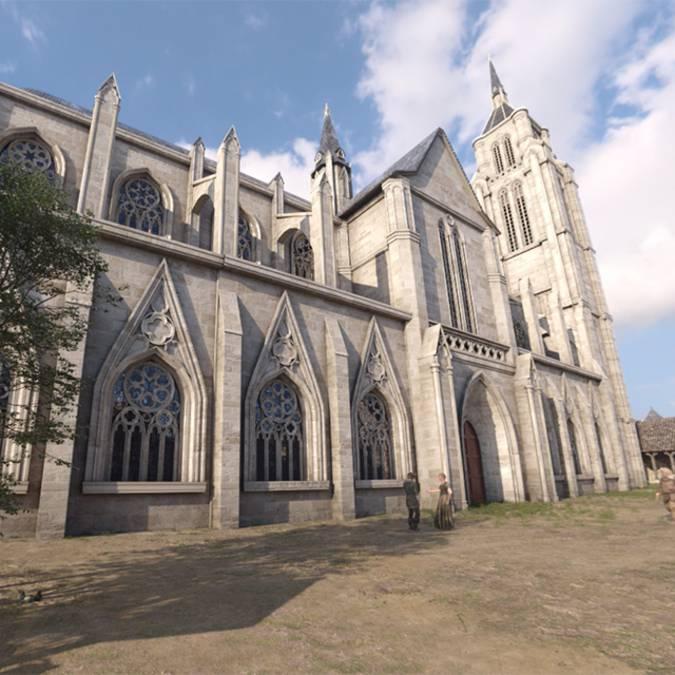 Die Kirche Saint Sauveur im Jahr 1429