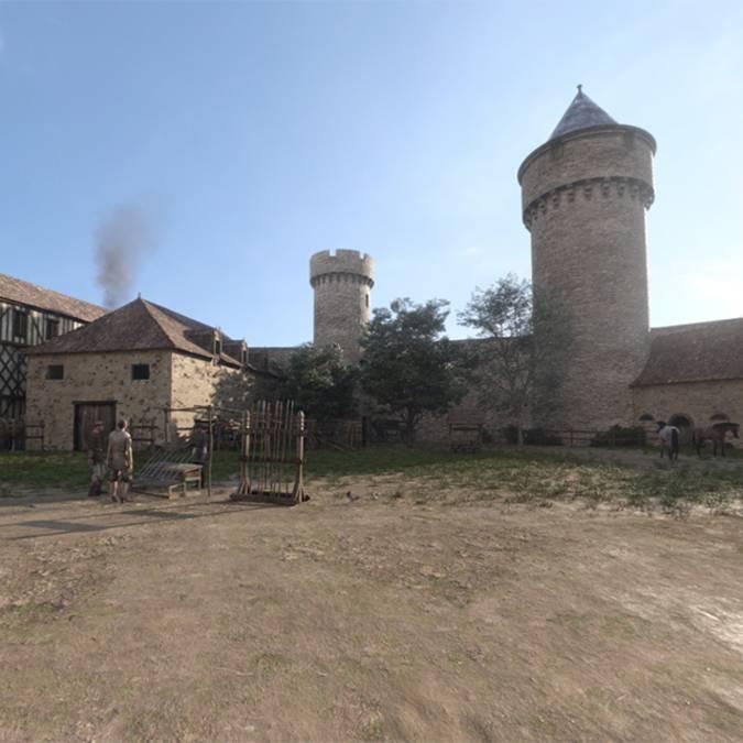 Der Schlossplatz im Jahr 1429