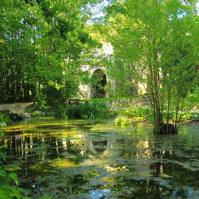 Der Garten von Leonardo da Vinci bei Le Clos Lucé in Amboise  © DR