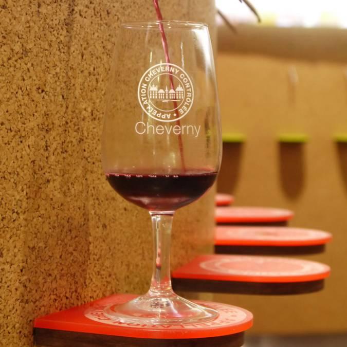 """Automatisierte Weinprobe in der """"Maison des Vins"""" in Cheverny  © OTBC"""